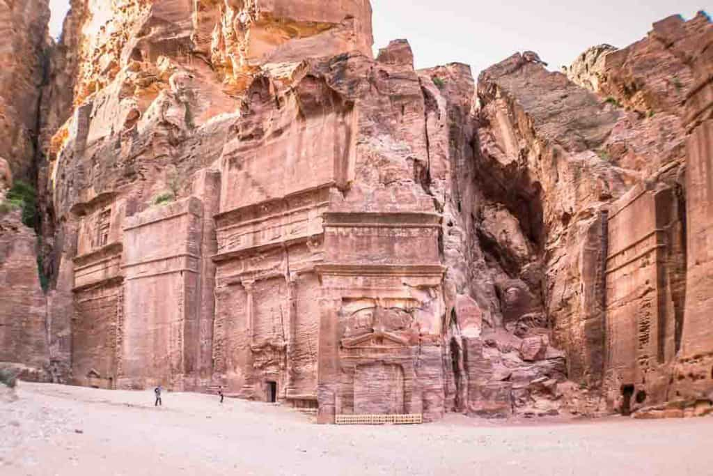 This photo shows the tombs surrounding Street of Facade in Petra City Center. Taken by Ketki R S for Dotted Globe.