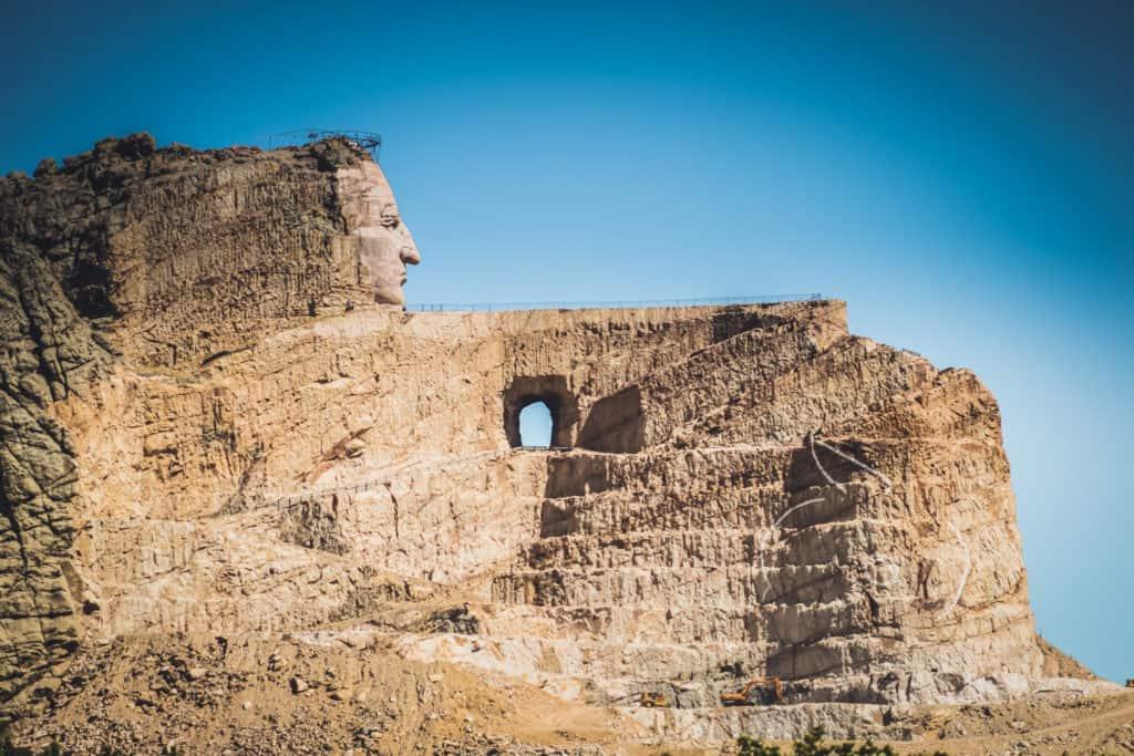 Crazy Horse Memorial in the Black Hills of South Dakota