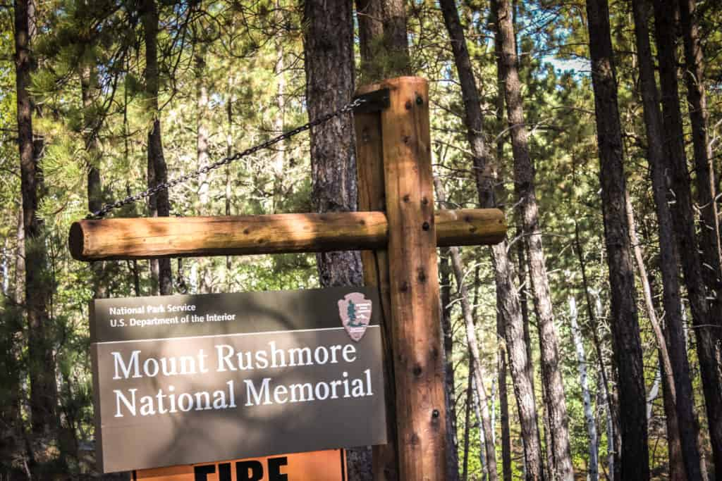Entrance to Mount Rushmore National Memorial, South Dakota