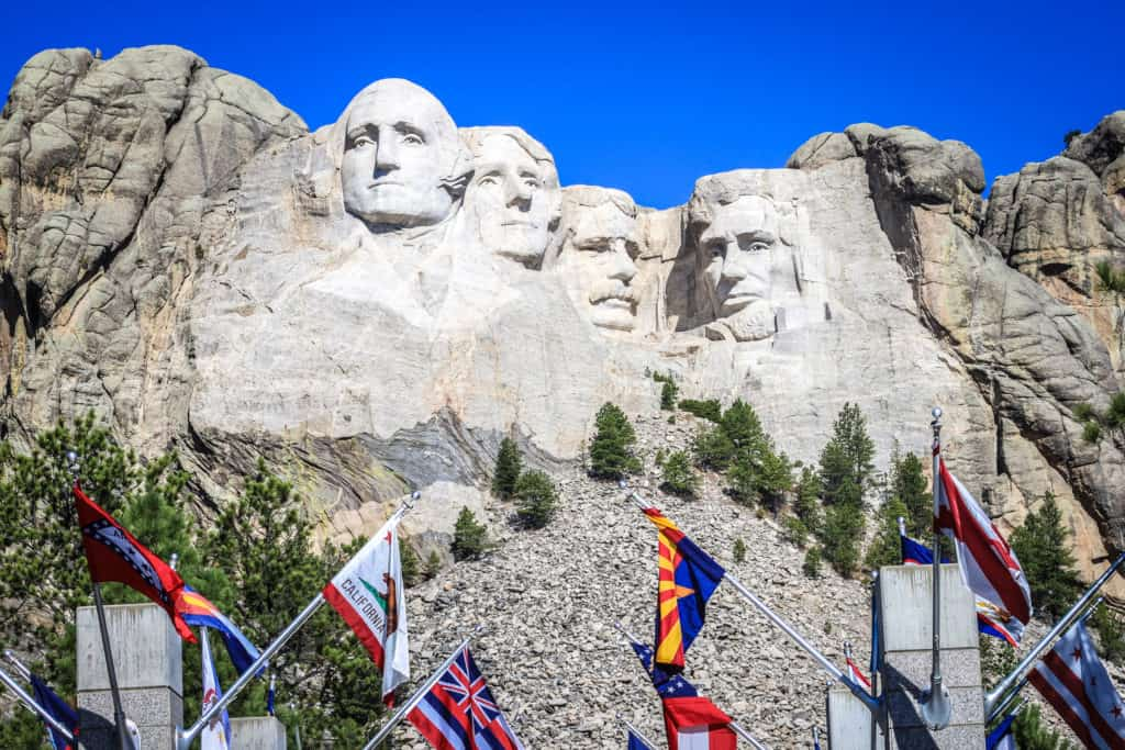 Avenue of the Flags at Mount Rushmore National Memorial, South Dakota