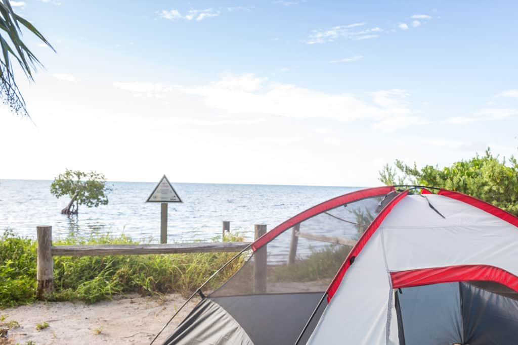 Camping at Long key State Park in Florida
