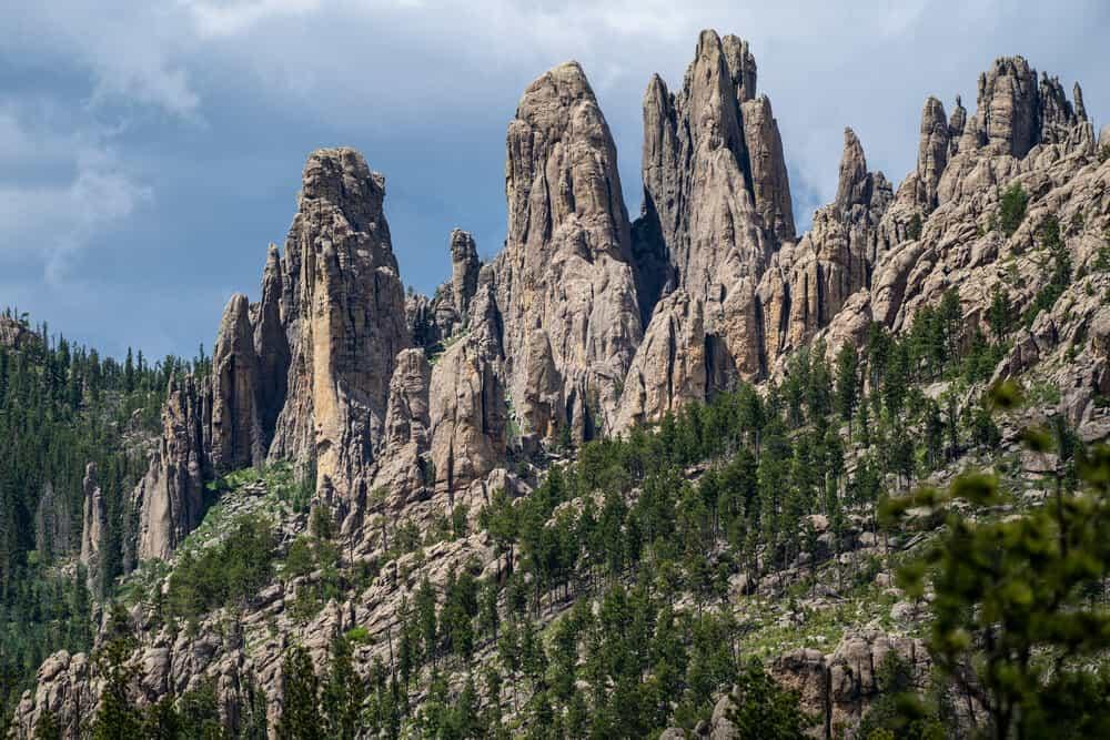 Needles granite formations on Needles Highway, South Dakota