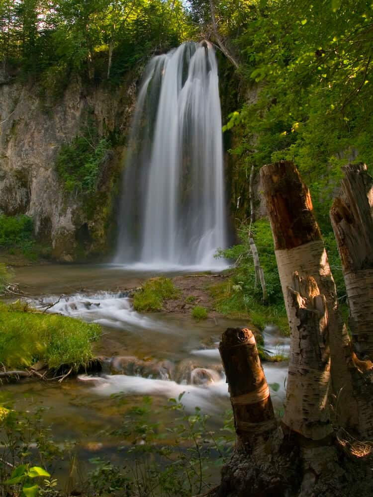 Spearfish Falls in Spearfish Canyon, South Dakota