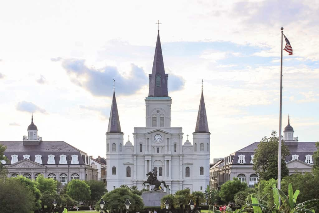 New Orleans St Louis cathedral in Jackson Square