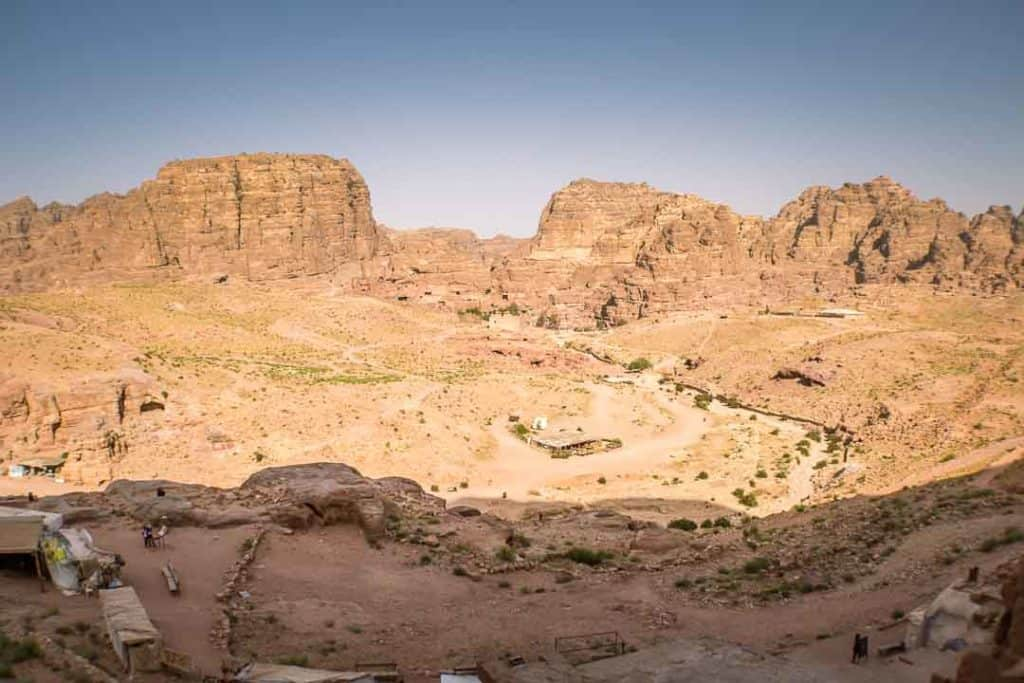 This photo shows a view of Petra City Center from the Royal Tombs. Taken by Ketki R S for Dotted Globe.