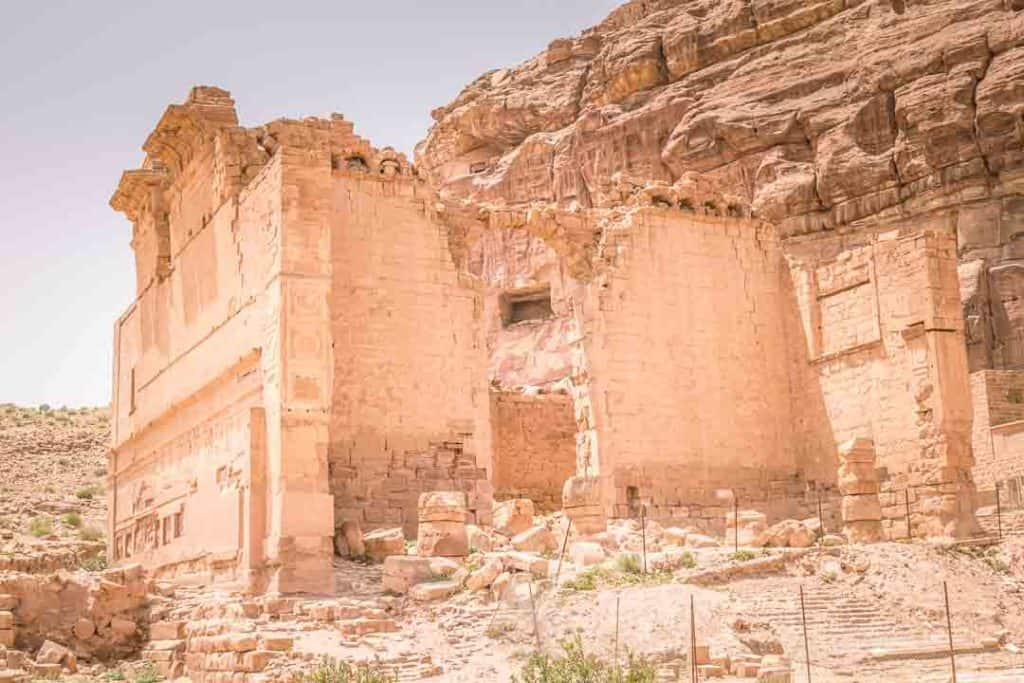 This is a photo of Qasr Al Bint Or The Nabatean Temple inside Petra. Taken by Ketki R S for travel website, Dotted Globe.