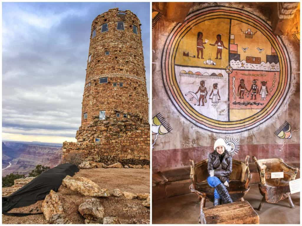Desert View Watchtower built in the Puebloan style at Grand Canyon