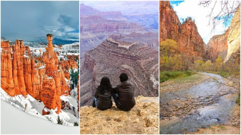 Zion Bryce Grand Canyon National Parks Road Trip – 7 Day Itinerary