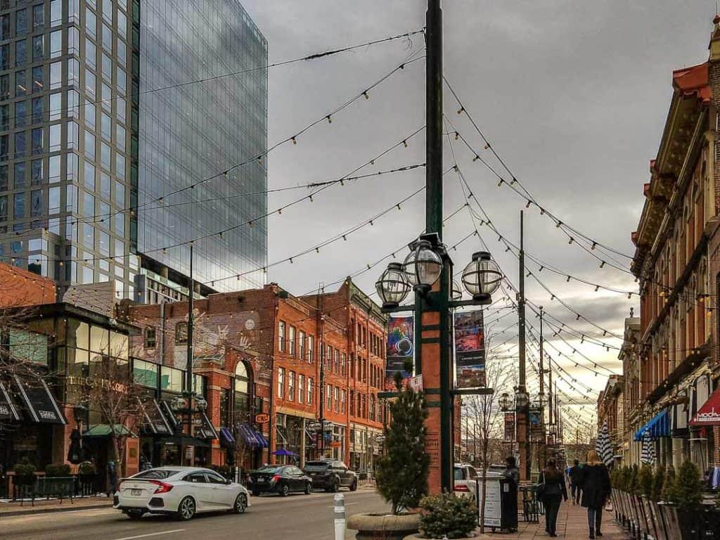 Charming Larimer Square in Downtown Denver, Colorado
