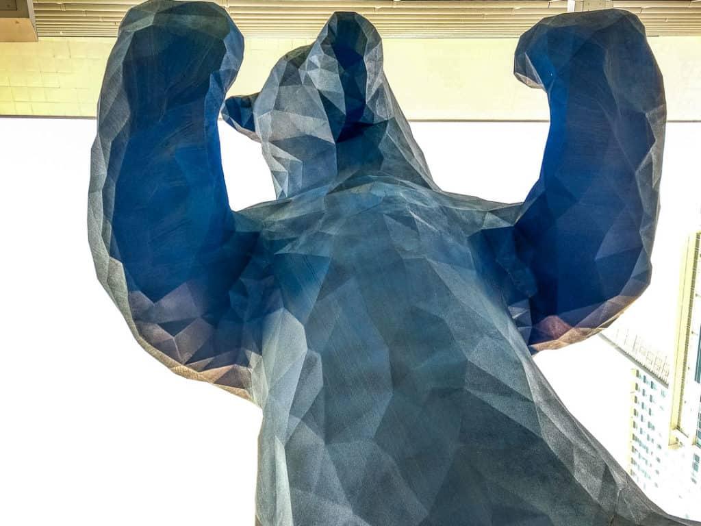 The Big Blue Bear in Denver, Colorado