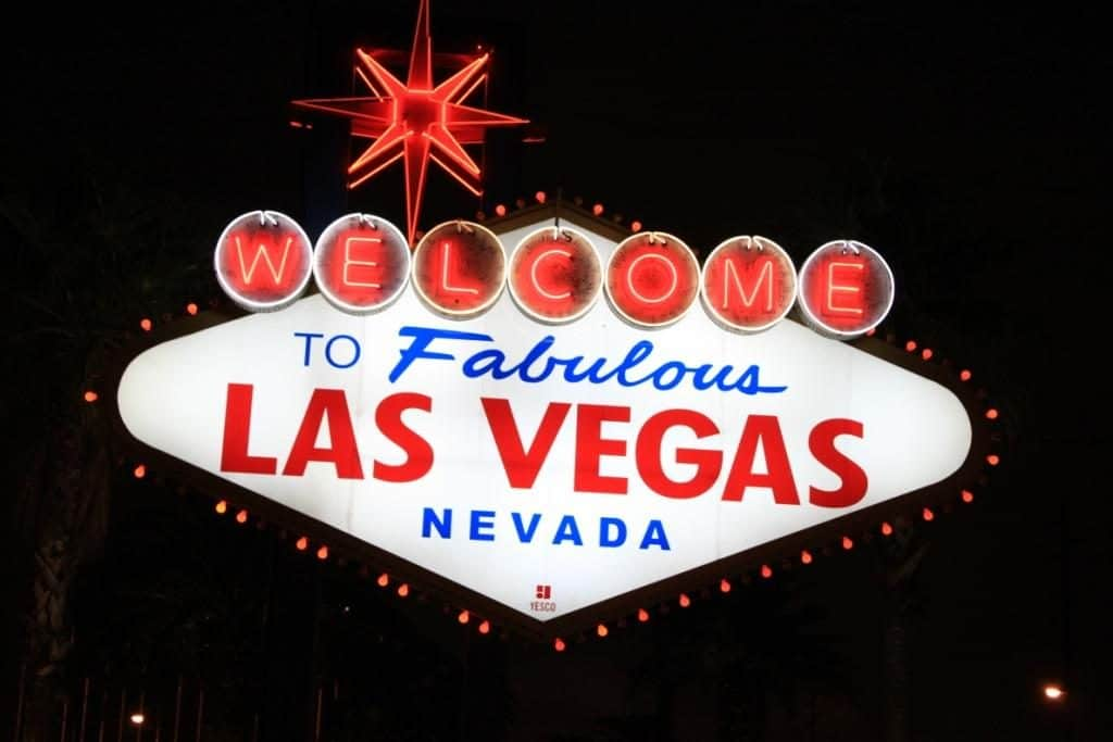 Las Vegas Welcome sign in Nevada
