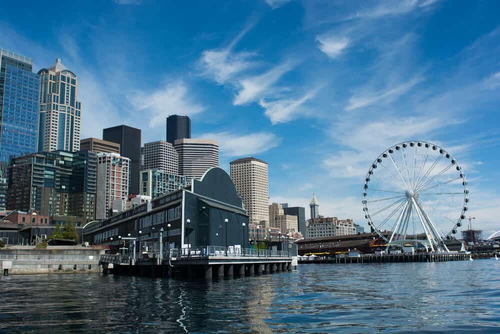 Aquarium Seattle and frontview, Seattle, Washington