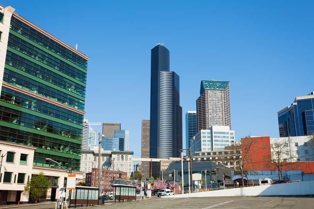 Cityscape in Seattle downtown, Seattle, Washington