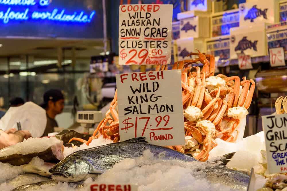 Fish at Pike Place Market, Seattle, Washington