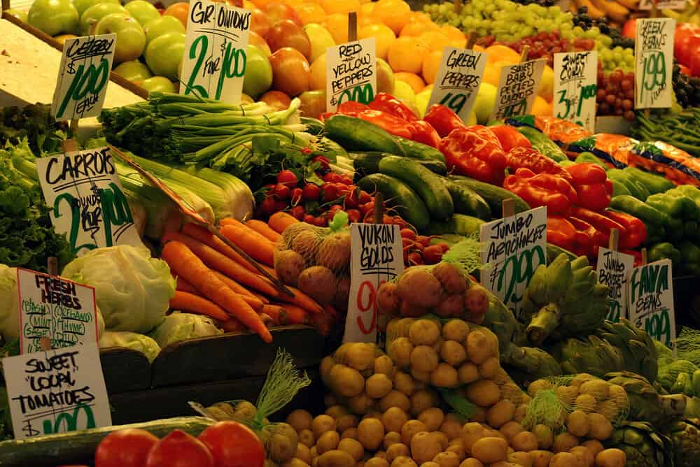 Fresh produce at Pike Place Market, Seattle, Washington