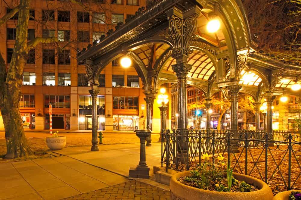 Pioneer square in Seattle, Washington