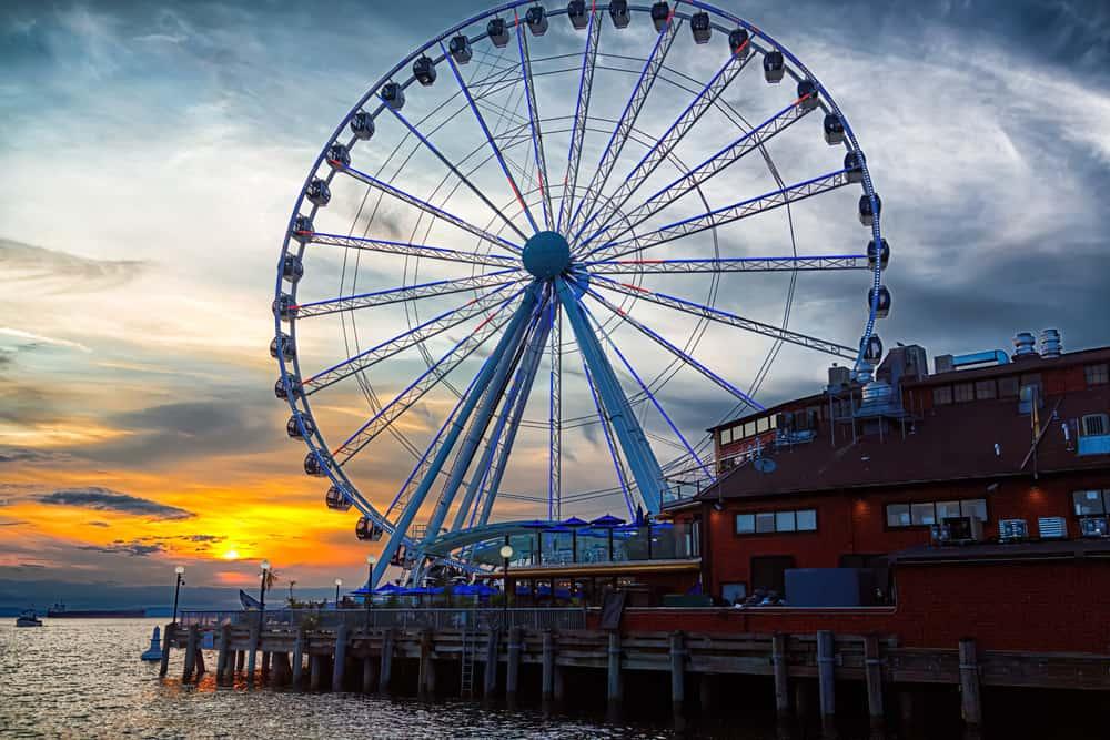 The ferris wheel on the waterfront of Seattle, Washington