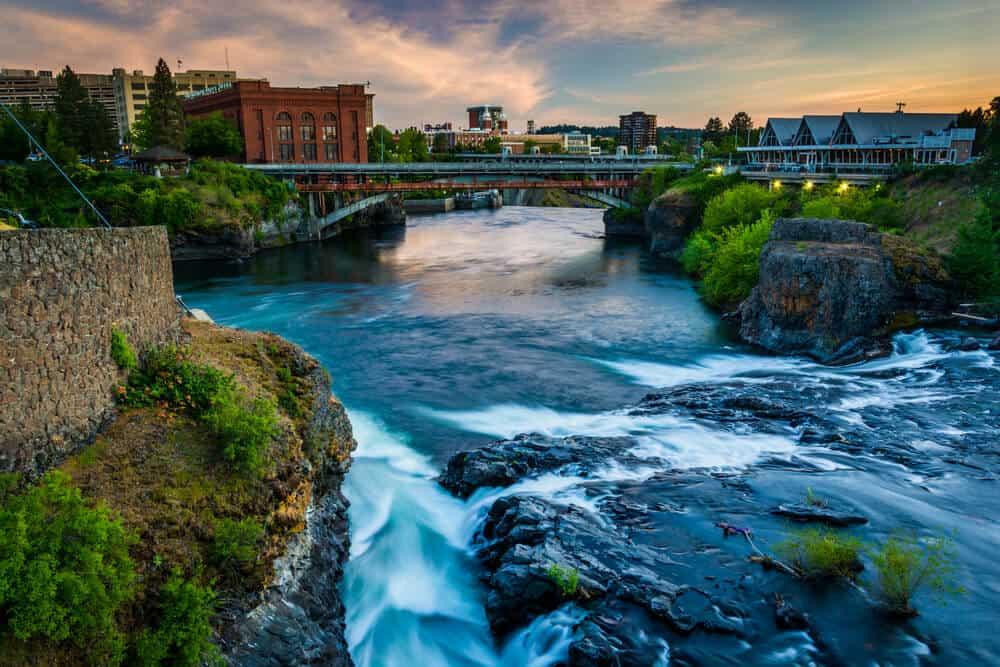 Spokane Falls in Spokane, Washington