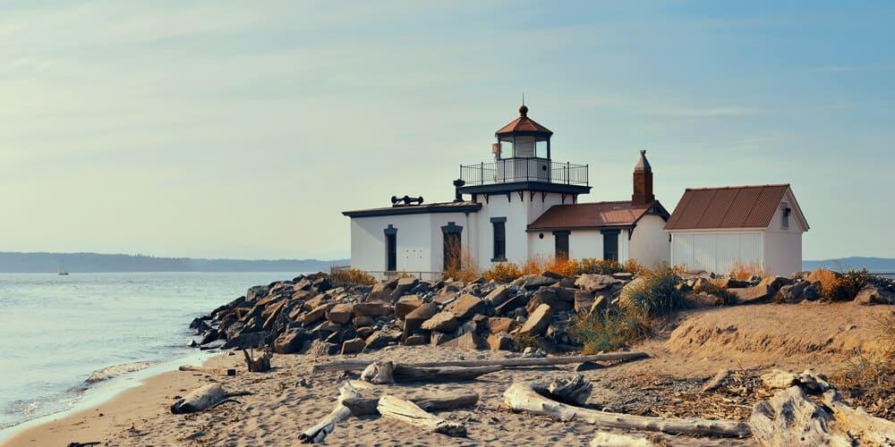West point lighthouse in Seattle, Washington