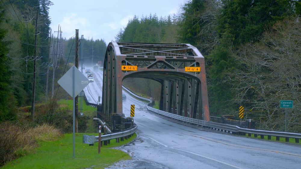 Bridge over Calawah River in Forks, Washington