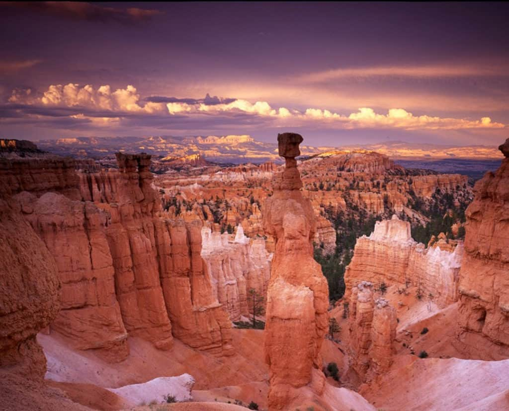 Thor's Hammer Rock formation inside Bryce Canyon