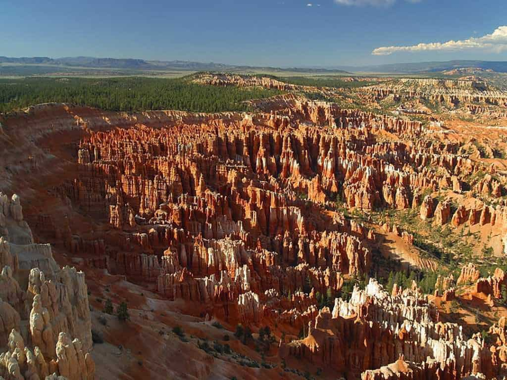 Bryce Canyon National Park Main Amphitheater - View of hoodoo rock formations