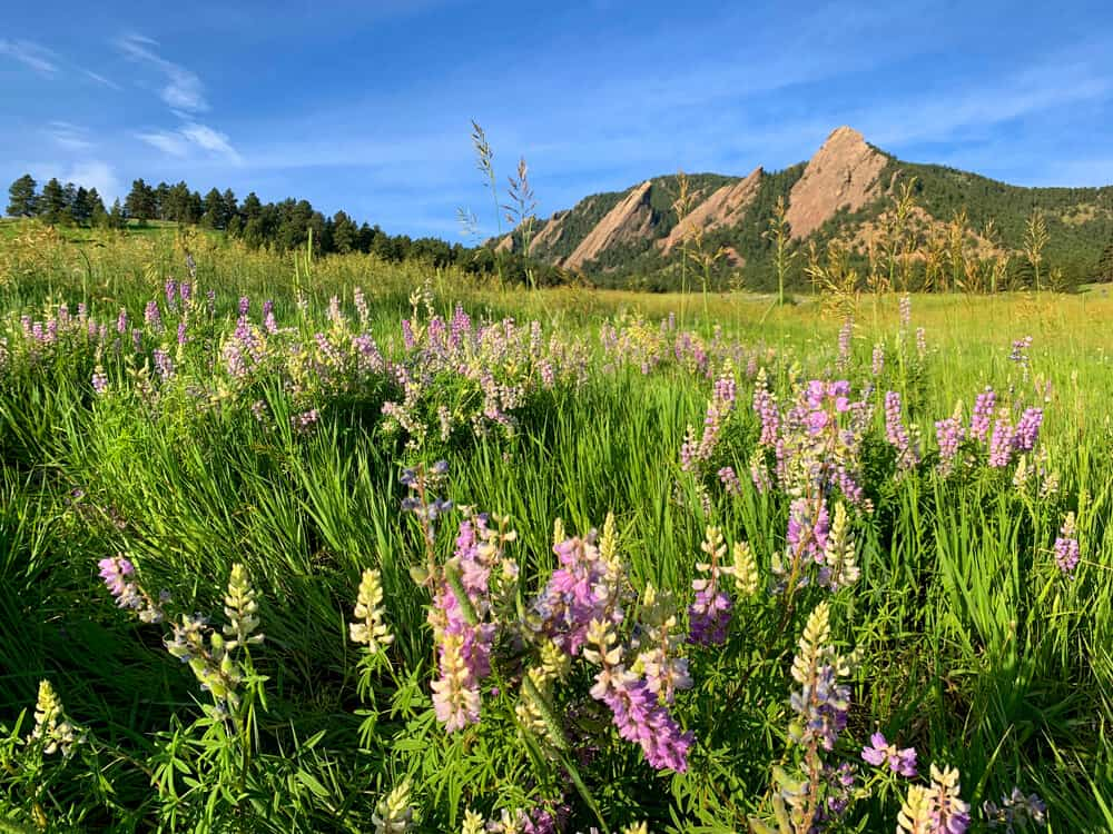 A view of Flatirons in Boulder Colorado