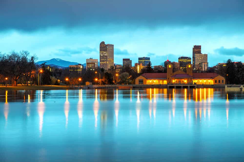 Downtown Denver, Colorado at Twilight
