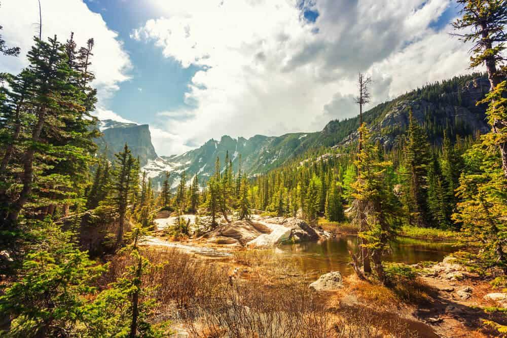 Beautiful landscape near Estes Park, Colorado