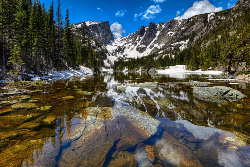Lake at the Rocky Mountain National Park Colorado