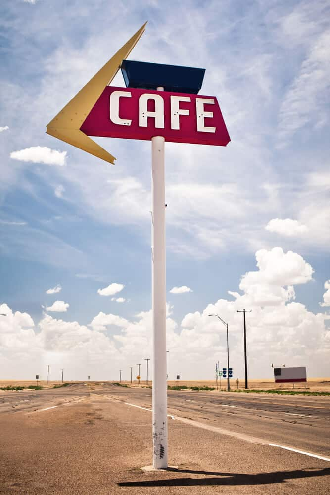 Midpoint Cafe. Cafe. Adrian, Texas