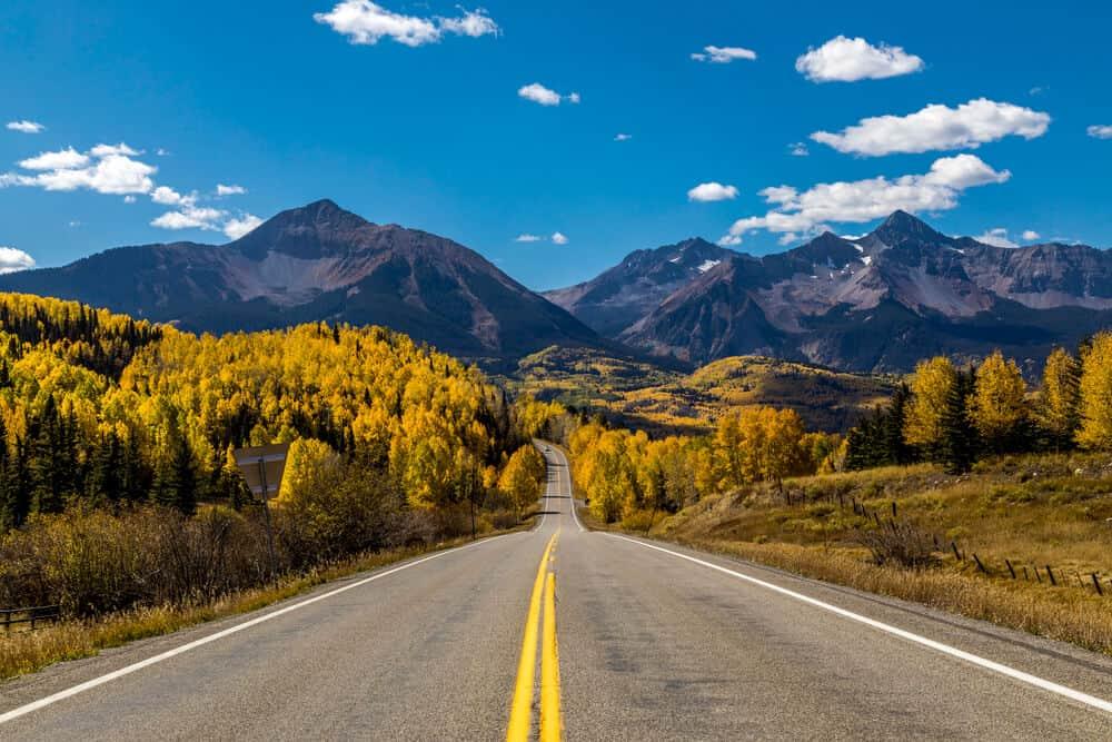 San Juan Scenic Byway between Telluride and Durango, Colorado