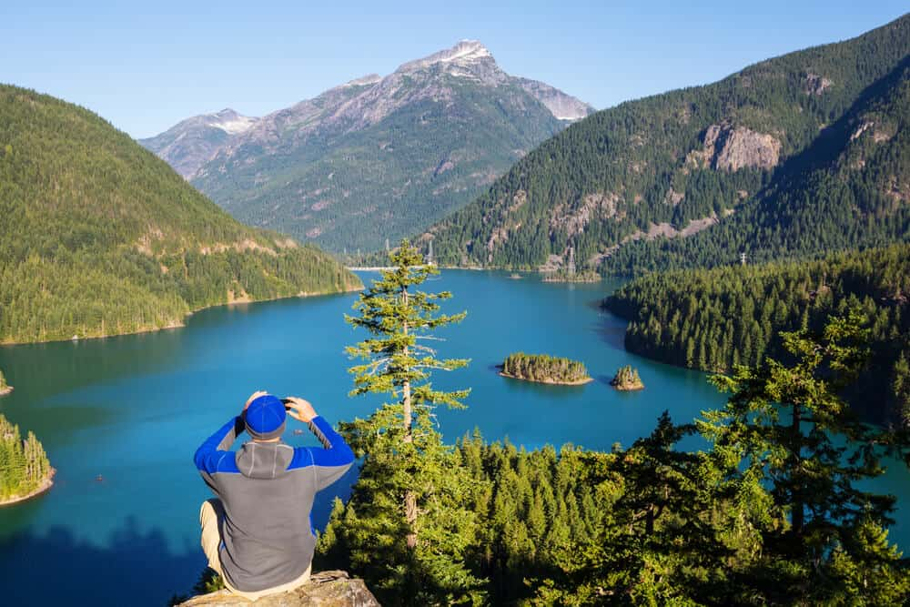 Diable Lake in Cascades National Park, Washington