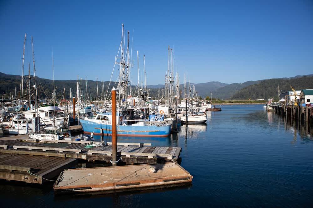 Port of Garibaldi on the Pacific Ocean in Northwest Oregon