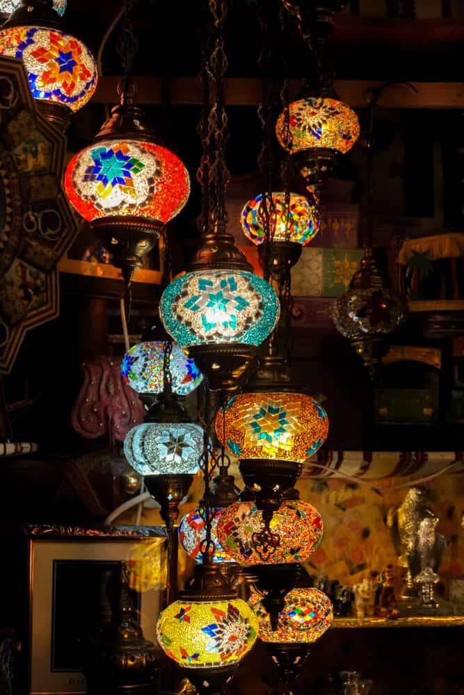 Colorful lights of Souq Waqif