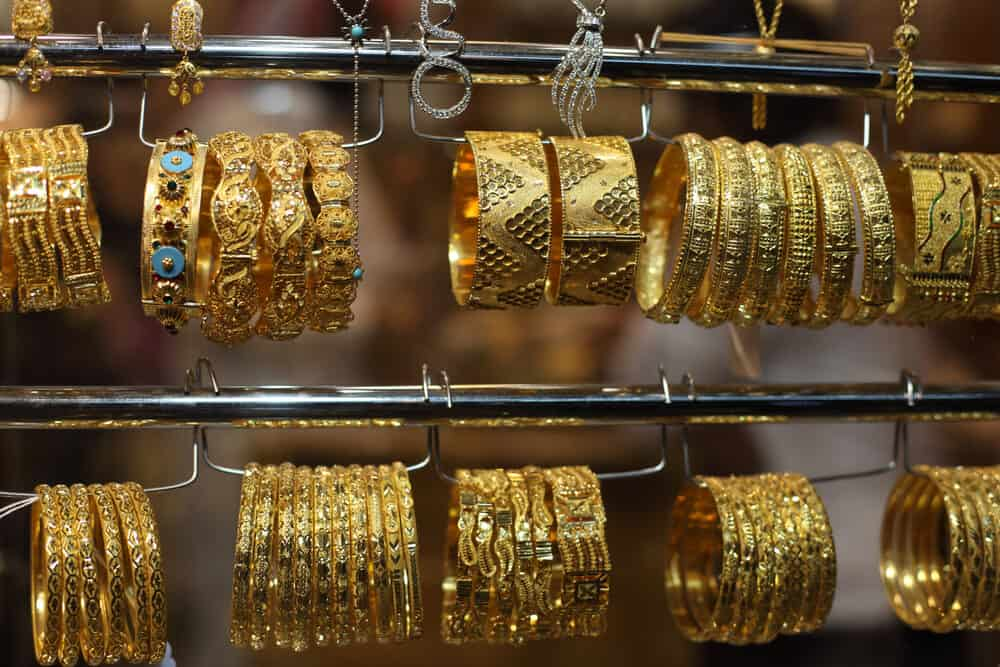 Jewelry for sale in the Gold Souq, Doha, Qatar