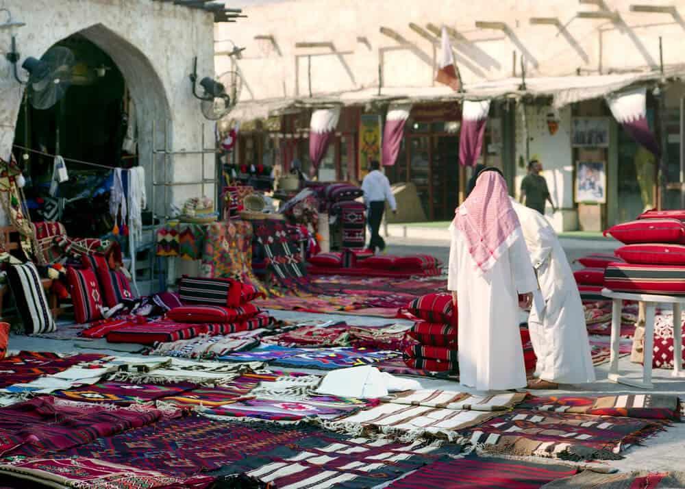 Morning Scene in Souq Waqif