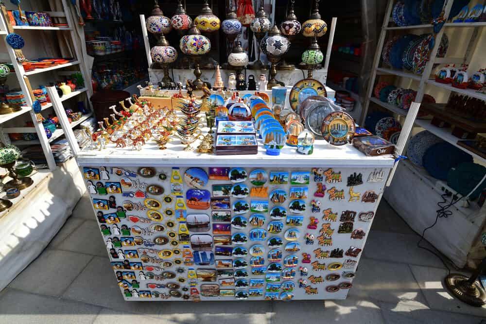 Souvenirs for sale on Souq Waqif