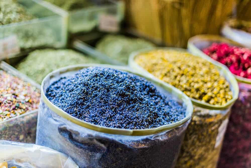 Spices and dried herbs in Souq Waqif