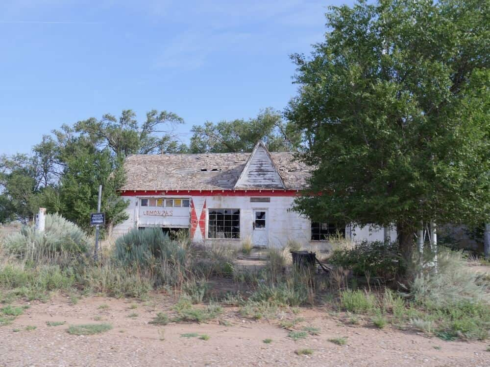Abandoned ghost town of Glenrio on Route 66, New Mexico
