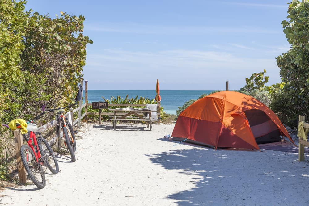 Bahia Honda State Park in the Florida Keys has one of the best beaches for camping in USA