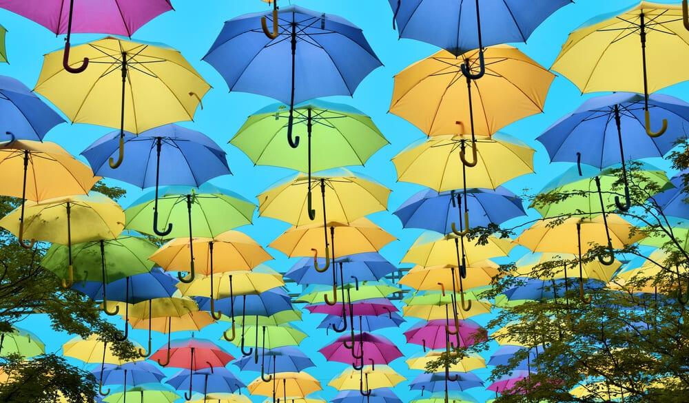 Coral Gables Umbrella Alley Florida