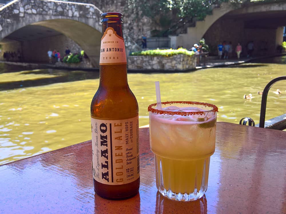 Enjoy drinks with a view on the Riverwalk