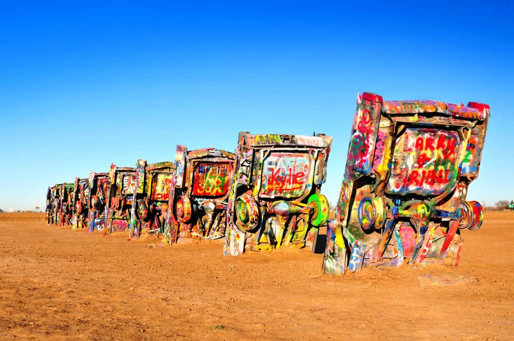 For Editorial purposes only - Cadillac Ranch in Amarillo, Texas