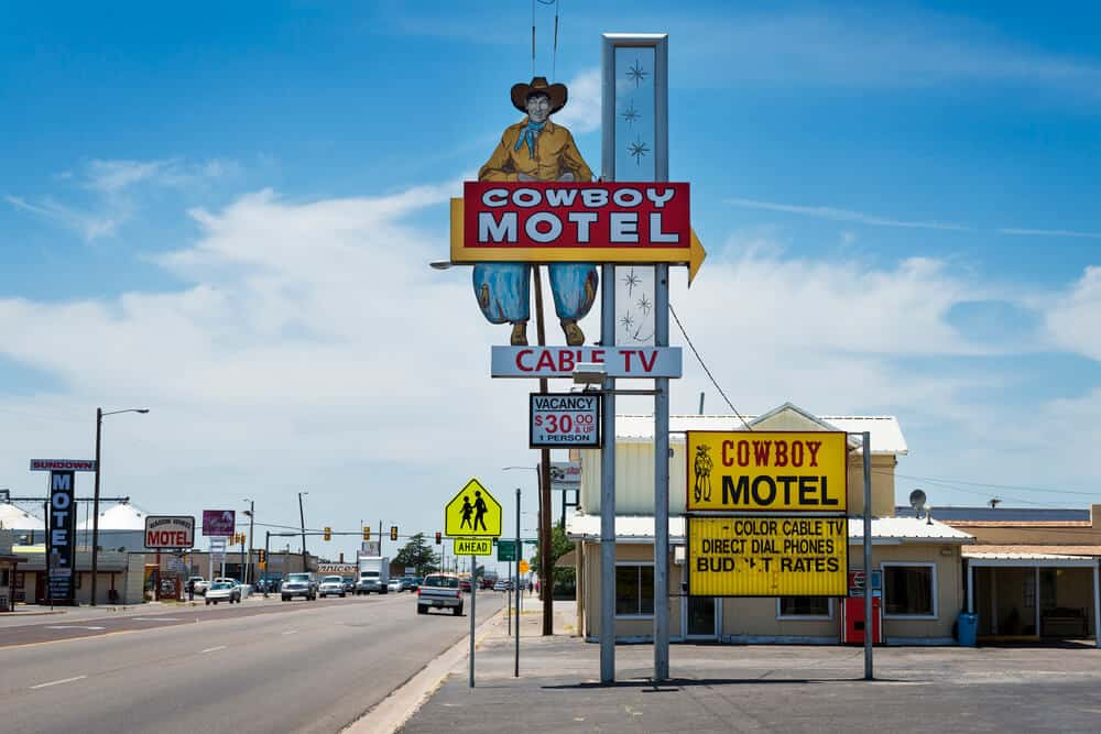 For Editorial purposes only - The Old Cowboy Motel on Route 66 in Amarillo, Texas