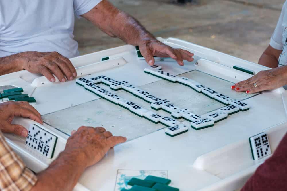 Game of dominoes in Little Havana Miami