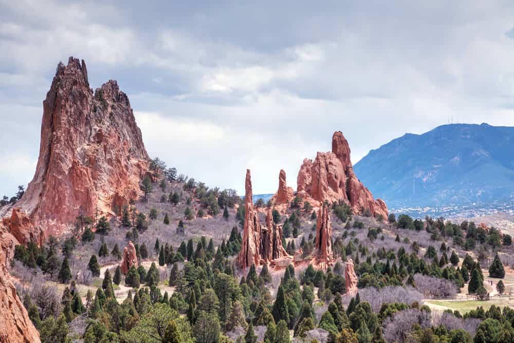 Garden of the Gods vistas in Colorado Springs