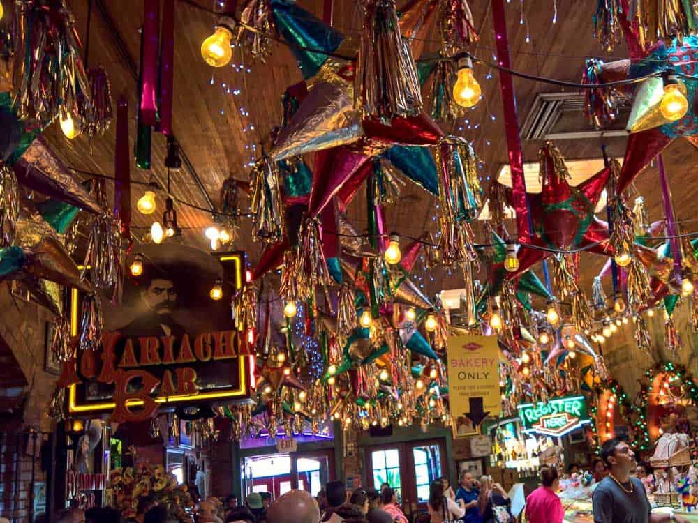 Inside Mia Terra Restaurant in Historic Market Square