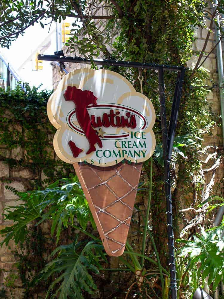 Justin's Ice cream Company, San Antonio Riverwalk
