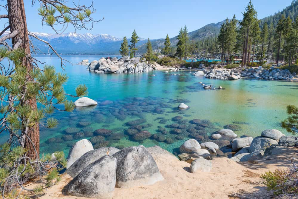Lake Tahoe emerald color in the summer California